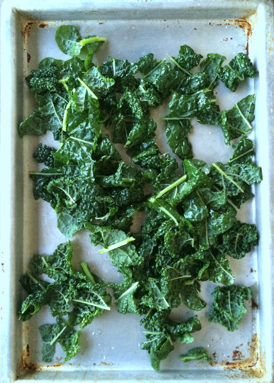kale on pan
