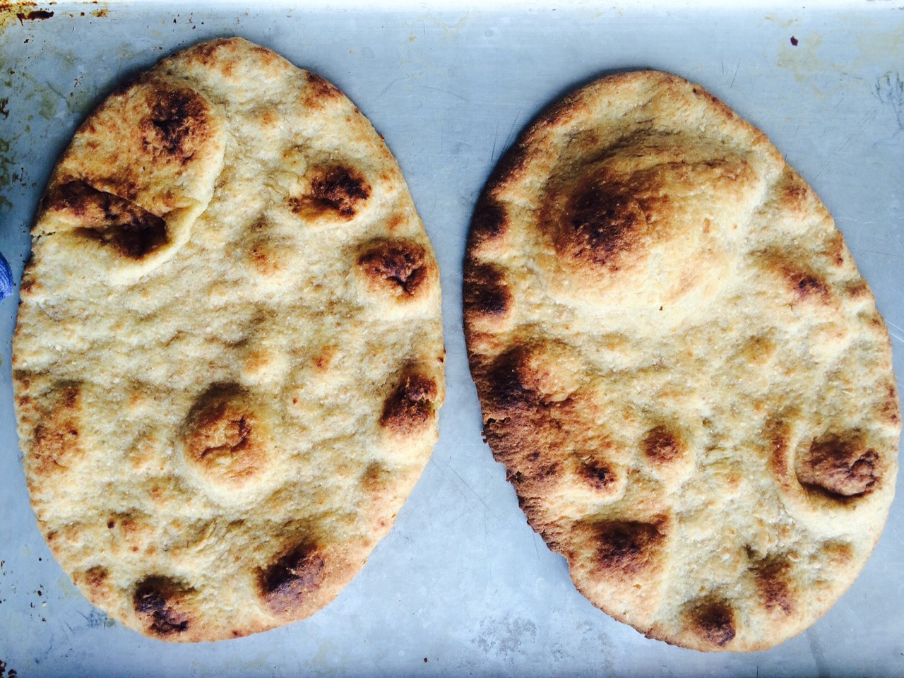 cooked naan
