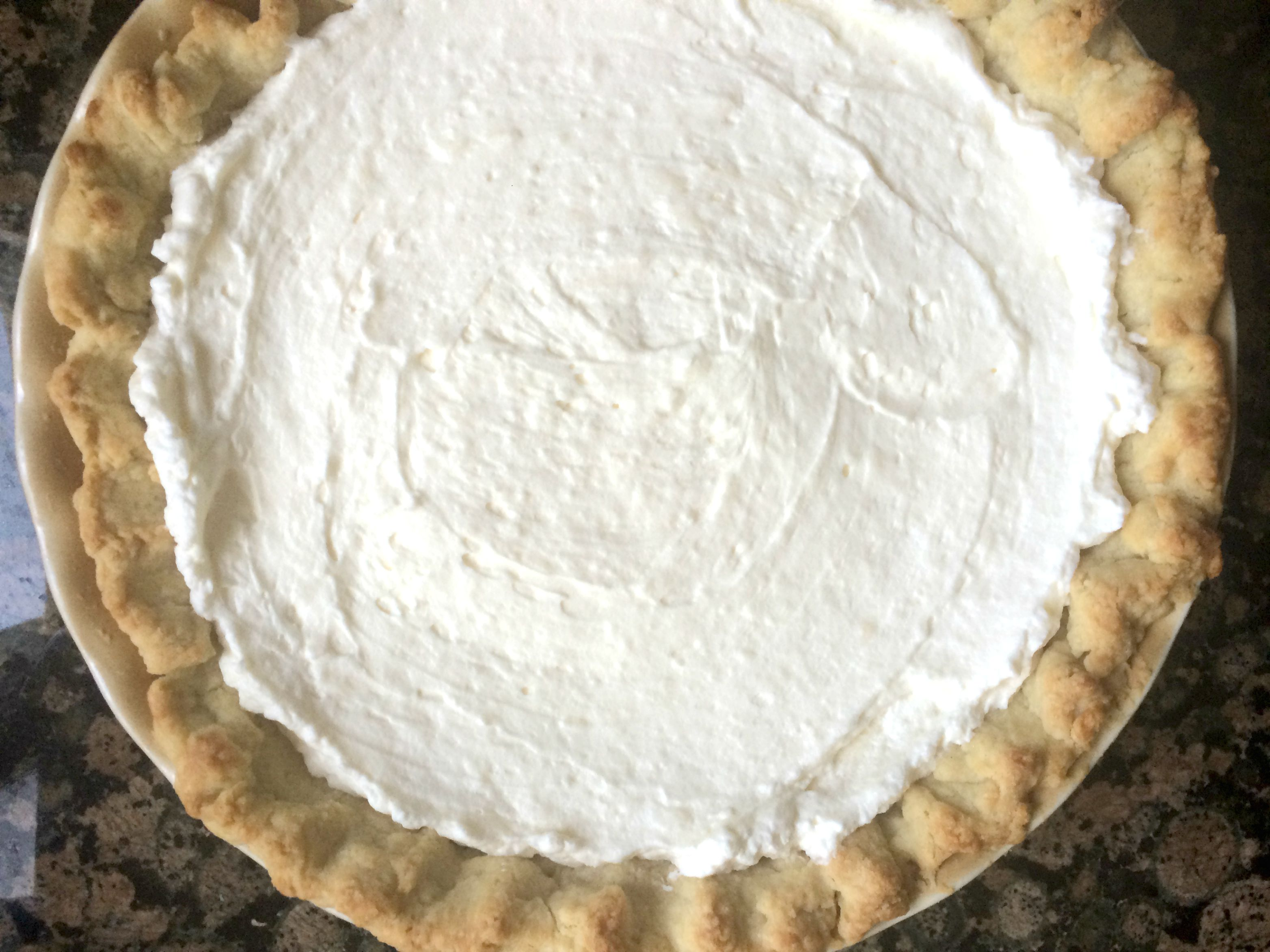 cream in crust finished