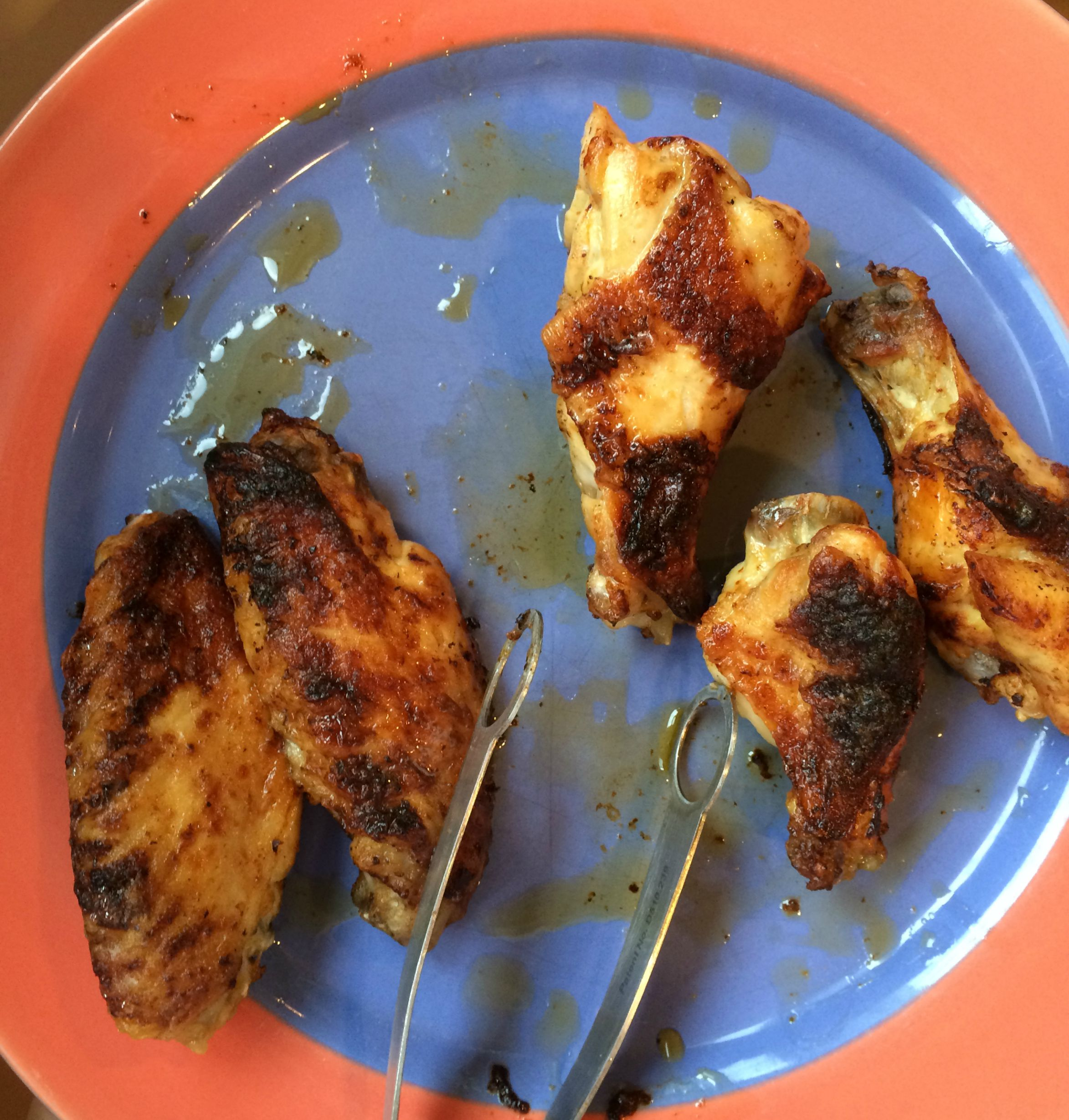 on plate wings