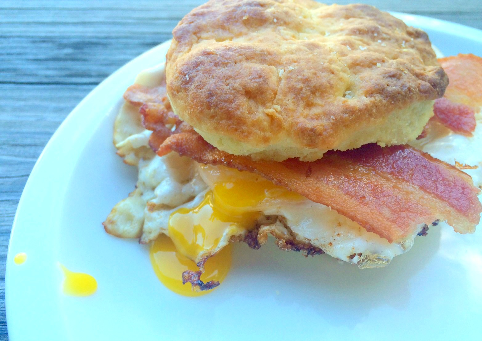 bacon egg biscuits